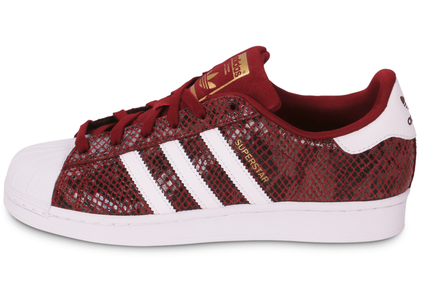 adidas superstar femme rouge bordeaux